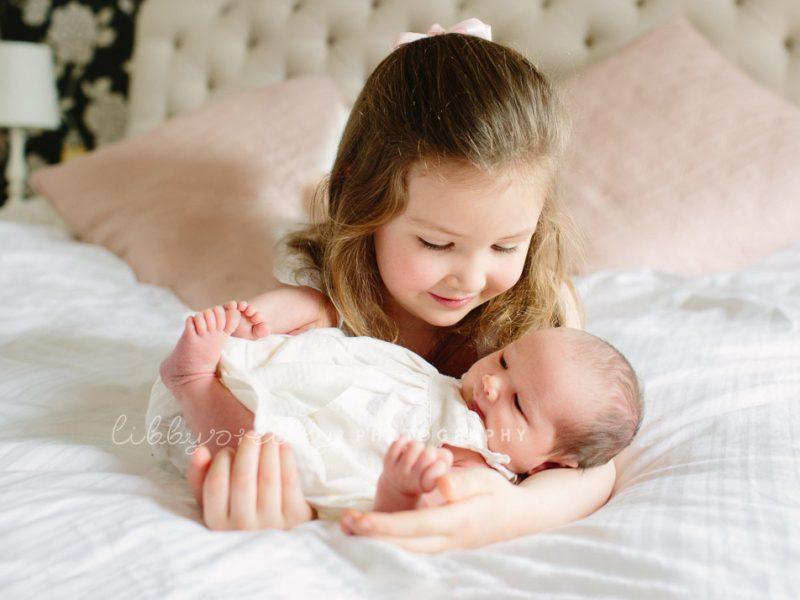A New Baby Sister   Newborn Portrait Session