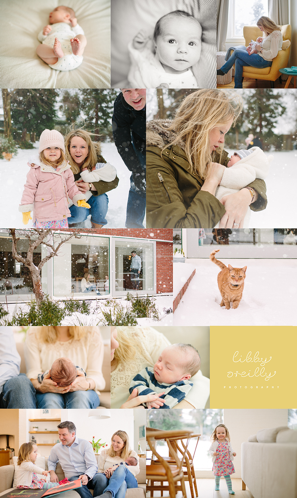 Winter wonderland Newborn & Family Photoshoot | Dublin, Ireland