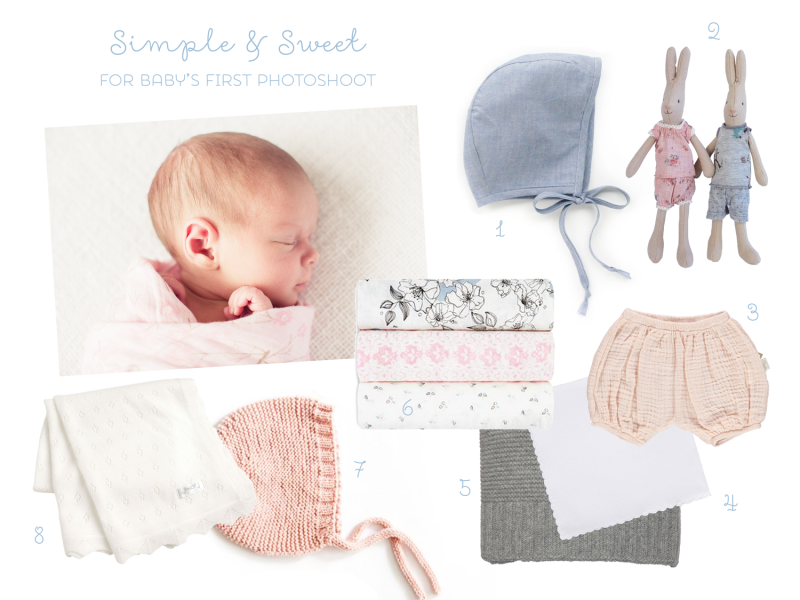 Simple & Sweet Accessories for Baby's First Photoshoot